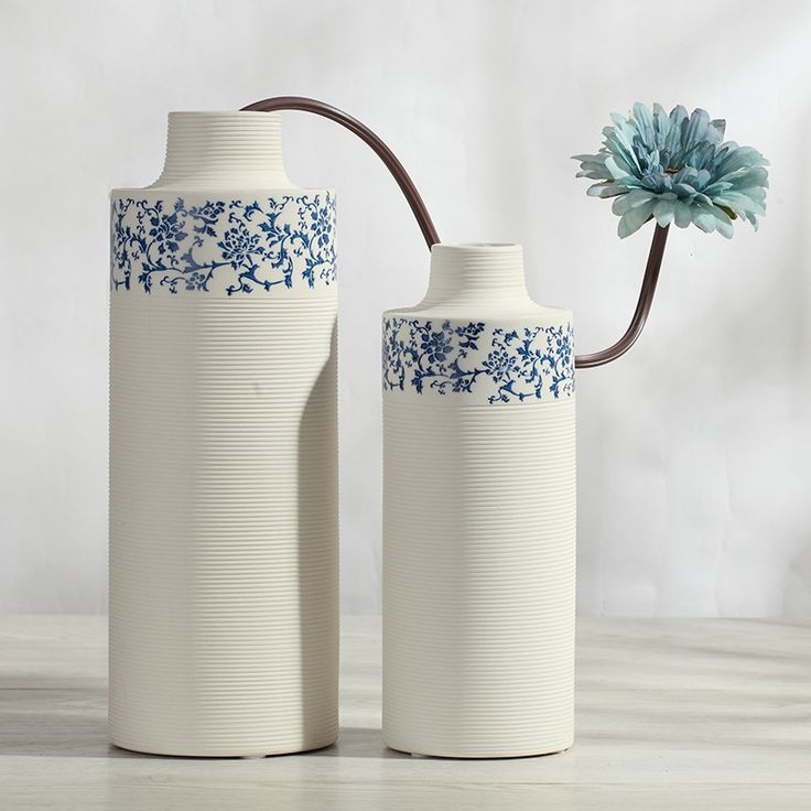 Find More Vases Information about Blue and White Porcelain Vase Flower Creative Art Home Decor Minimalist Home Furnishing Ornaments Ceramic Decoration Flowerpot,High Quality home decorating club,China home decorating Suppliers, Cheap flowerpot wall from Handicraftsman on Aliexpress.com