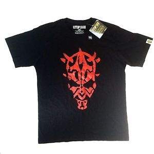 Star Wars Uniqlo Mens XL Black RED Tshirt Darth Maul Japan Phantom Menace Utgp | eBay