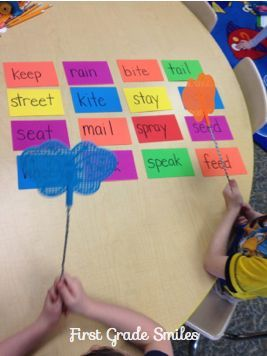 First Grade Smiles: Bright Ideas for Kinesthetic Learning--> Could be used with colors, numbers, and letters (upper and lower)
