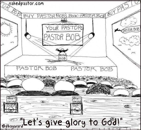 """This cartoon has been one of my most popular cartoons probably because so many identify with it """"Pastor Bob"""": http://www.patheos.com/blogs/nakedpastor/2013/05/who-is-it-all-about-anyway/"""