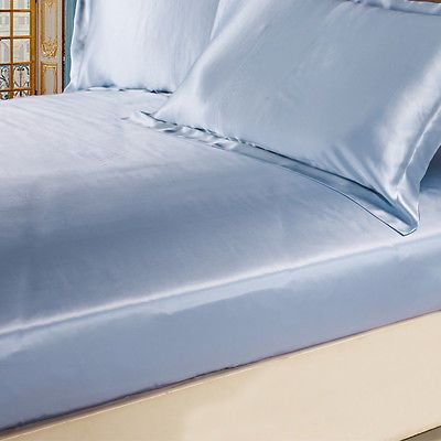 3pcs 100 mulberry silk fitted sheet set seamless 19mm multi color lilysilk