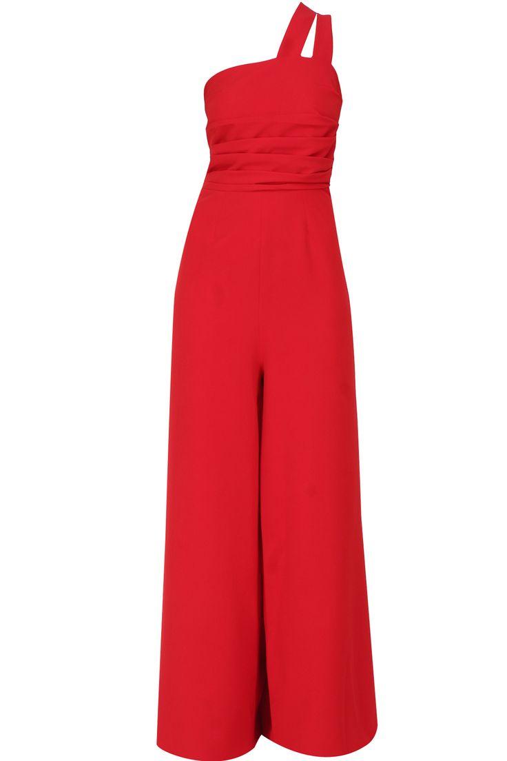 Red dress knit golf
