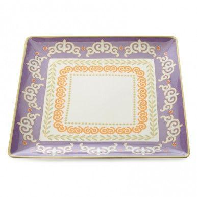 M & W Vivacious Square Platter 34cm