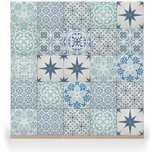 Arabesque Mono by Suzy Amolis: Portuguese and Moroccan Azulejo tile designs, fresh, modern ideas, with the influences of past eras and styles.