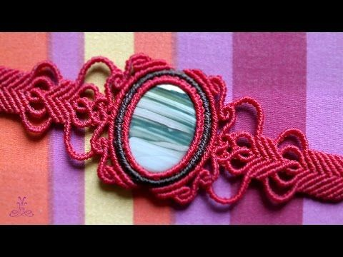 In this video tutorial you will learn a new vintage pattern for macrame bracelet with gemstone. This is a very easy and elegant way how to enrich your macrame jewelry. You can use this pattern for macrame bracelets, necklaces, earrings and rings. I use waxed polyester cord, 1 mm.