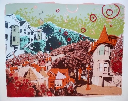 Wendy's Whimsey - screen print on paper
