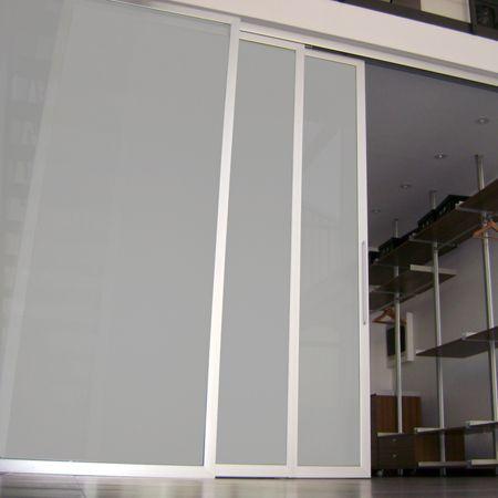 Sistema corredizo colgante sincronizado para puertas de - Marco puerta madera ...