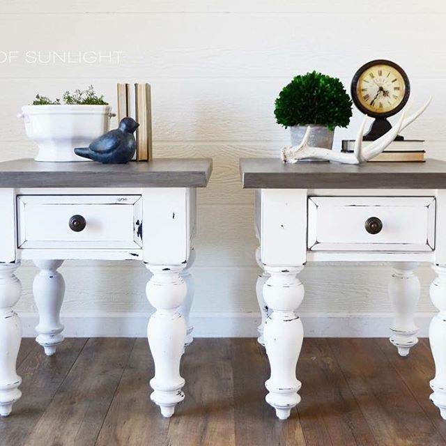 45+ Farmhouse white end tables type