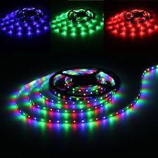 5X(Tira Luz Cinta Rollo Flexible 300 LED SMD 3528 DC 12V RGB 5m)