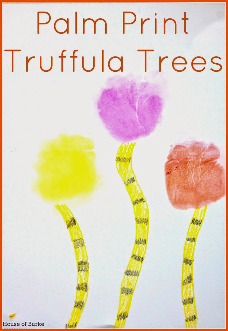 Palm Print Truffula Trees House Of Burke Activities