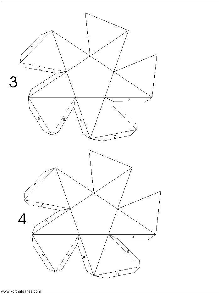 Net Small Ditrigonal Icosidedecahedron