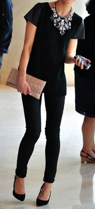 street fashion, Black is limitless. I love it!