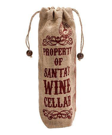 Look what I found on #zulily! 'Santa's Wine Cellar' Cotton Wine Bag #zulilyfinds