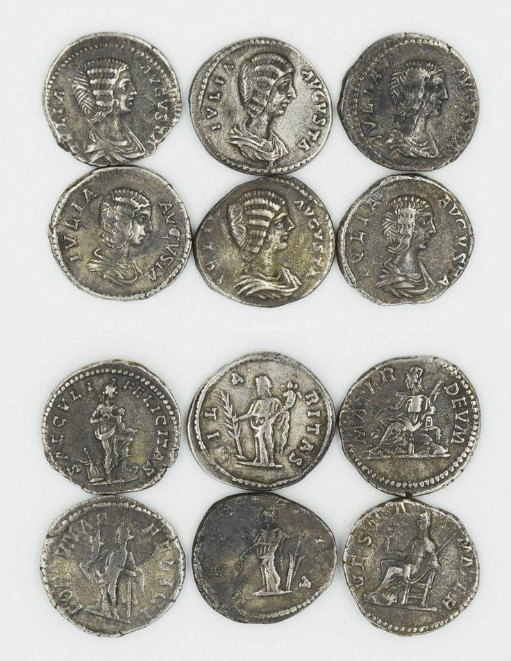 SIX ROMAN DENARII OF JULIA DOMNA