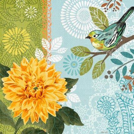 Spring Garden Bluebird by Jennifer Brinley | Ruth Levison Design