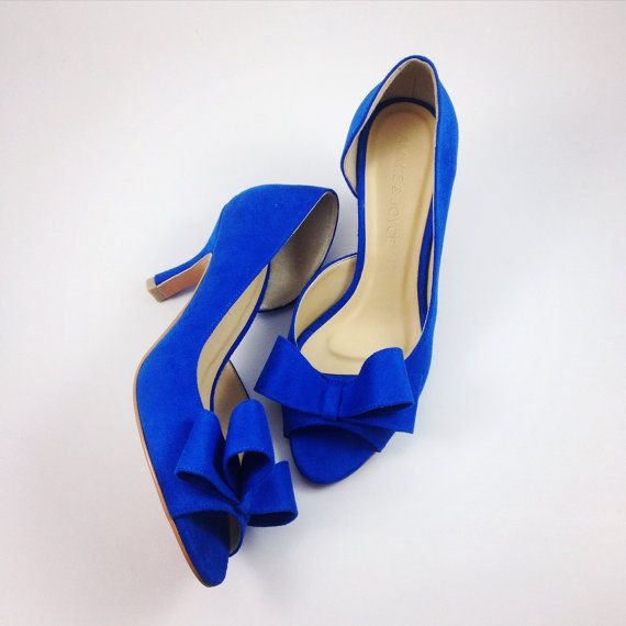 Something Blue Wedding Shoes Electric Blue Wedding by ammiejoyce