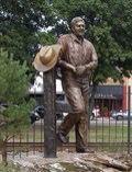 Statue of Winthrop Rockefeller. Morrilton Arkansas