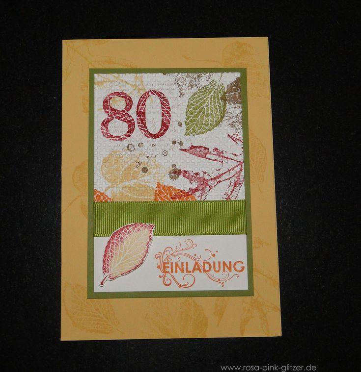 Einladungskarten 80. Geburtstag Vorlagen Kostenlos