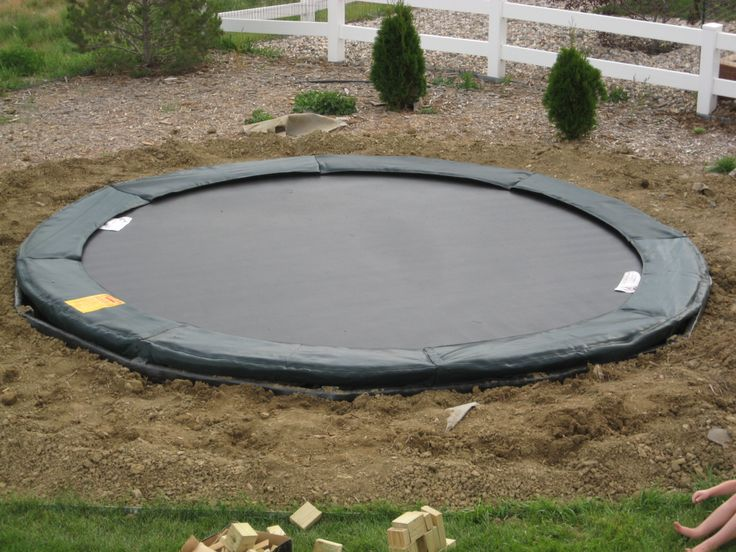 55 best in ground trampoline images on pinterest for How to put a trampoline in the ground
