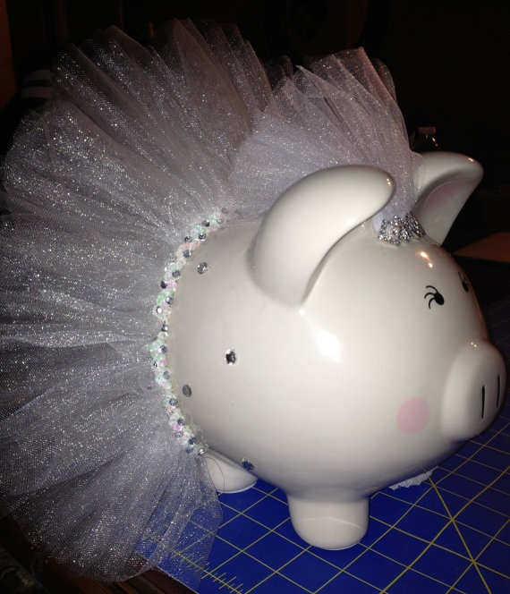Here comes the Bride Large piggy by Thislilpiggybank on Etsy, $45.00