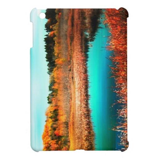 Marshland Trees and Water in Autumn iPad mini case