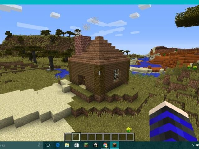 Student written tutorial: How to Make a Roof and Chimney in Minecraft