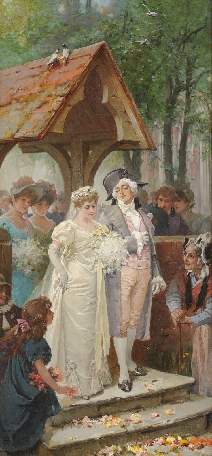 "Marcus Stone R.A. (1840-1921)  ""The Happy Bride"""