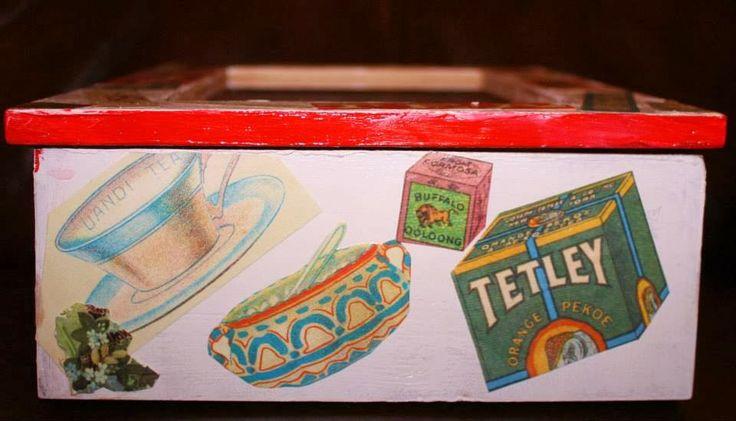 Side A of tea box