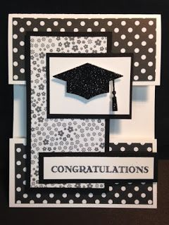 Guy Greetings, Graduation Card, Stampin' Up!, Rubber Stamping, Handmade Card