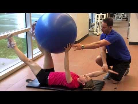 100 Best Ab Exercises   Dead Bug Swiss ball