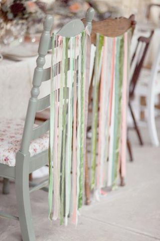 Ribbons on vintage mismatched chairs