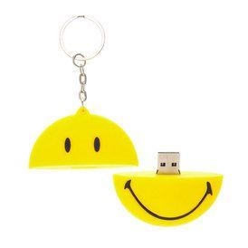 Porte-clés clé USB Smiley