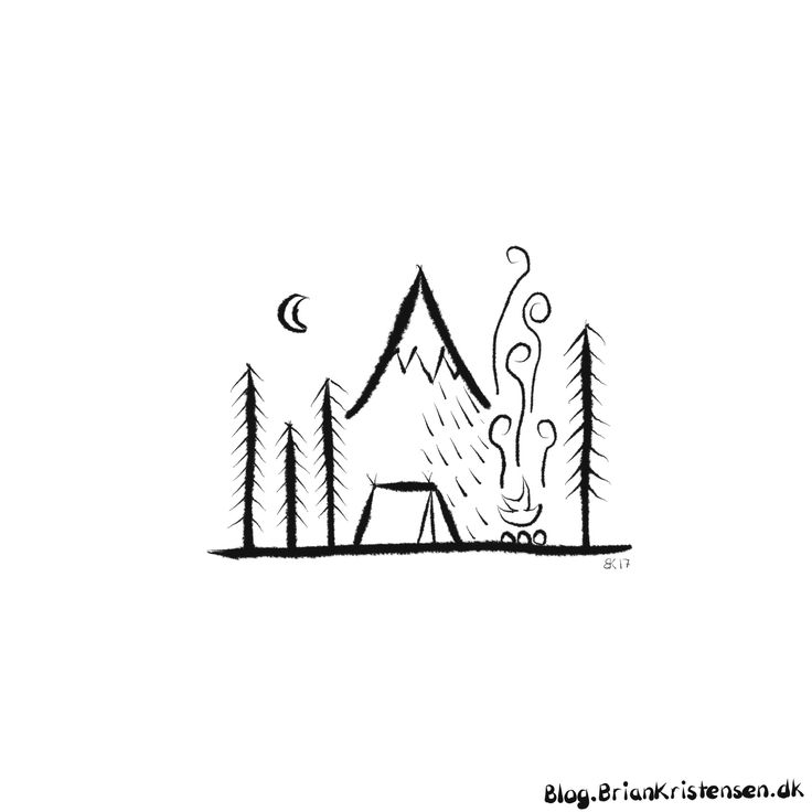How to Draw a Simple Mountain Schene
