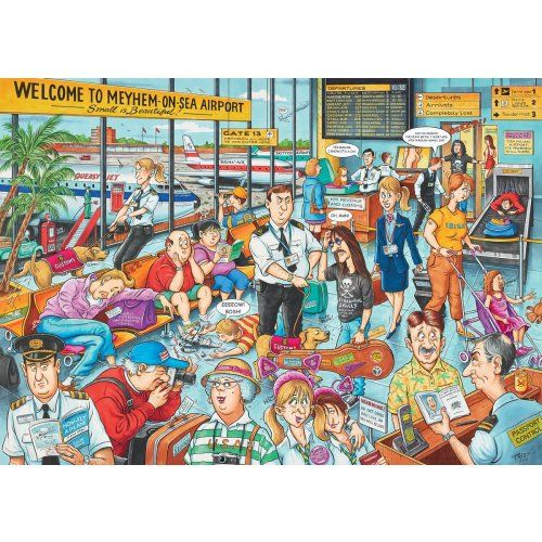 Best Of British - Mayhem On Sea Airport jigsaw puzzle