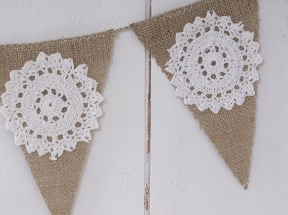 Burlap Banner-could use removable letters and decorations with this so it could be reused for many different things