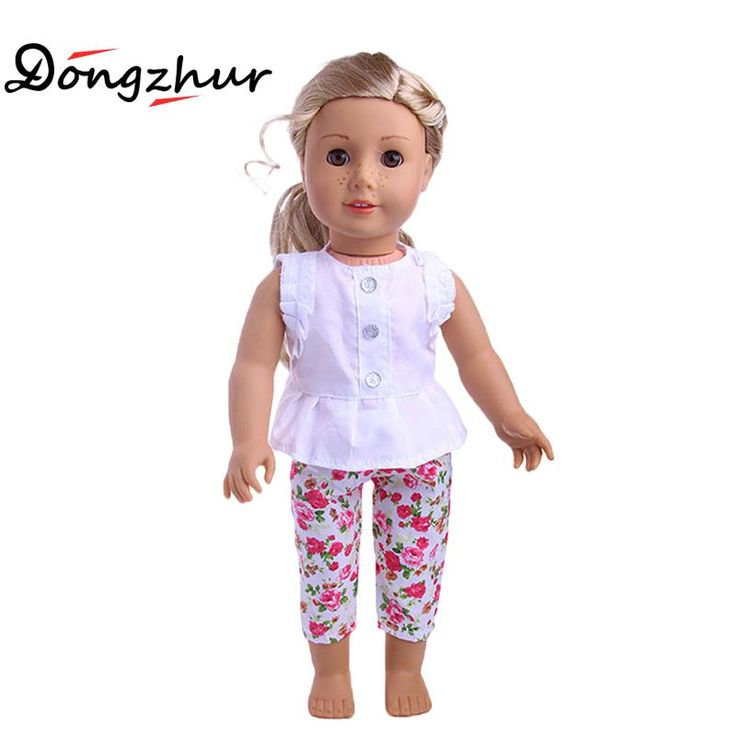 "Find More Dolls Accessories Information about 1 Set 18"" American Girl Doll Clothes And Accessories White Shirt And Flower Trousers 18 inch American Girl dolls clothes ingbaby,High Quality american girl doll clothes,China doll clothes Suppliers, Cheap girl doll clothes from 100% baby house Store on Aliexpress.com"