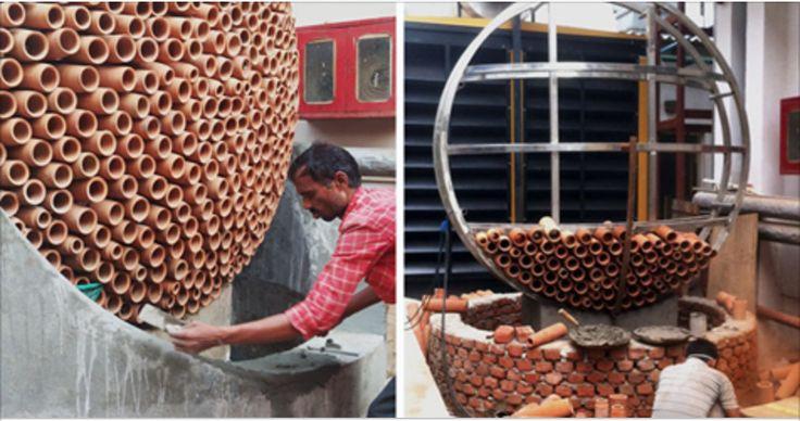 Designers indianos construíram um ar-condicionado genial: funciona sem eletricidade, não agride o meio ambiente e pode salvar vidas!