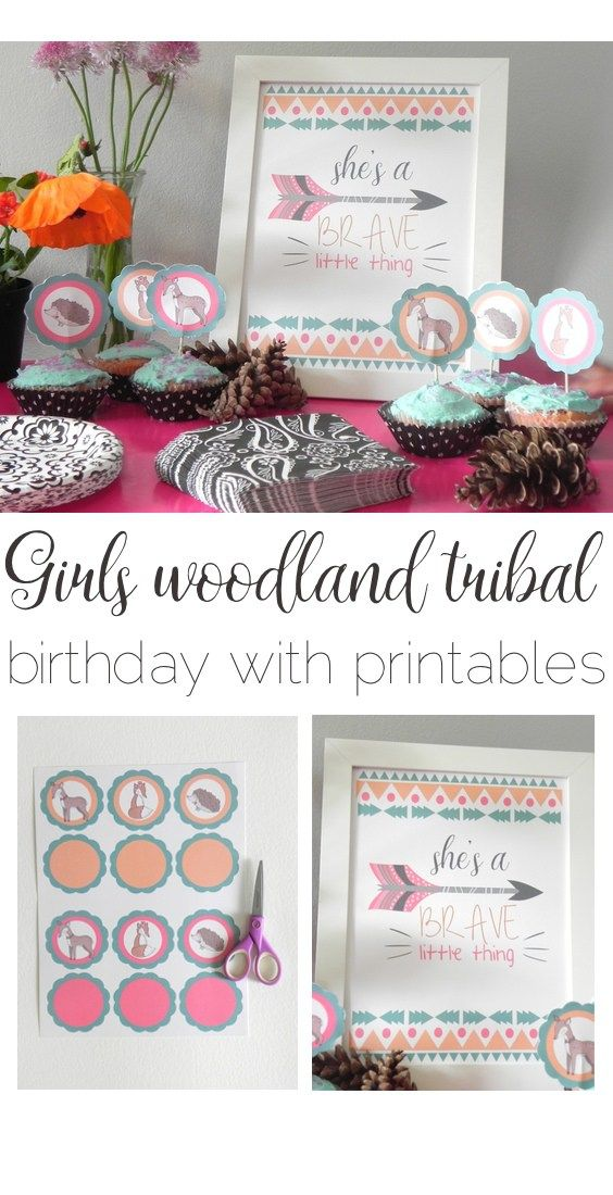 Girl's Woodland Tribal Birthday Party with Free Printables
