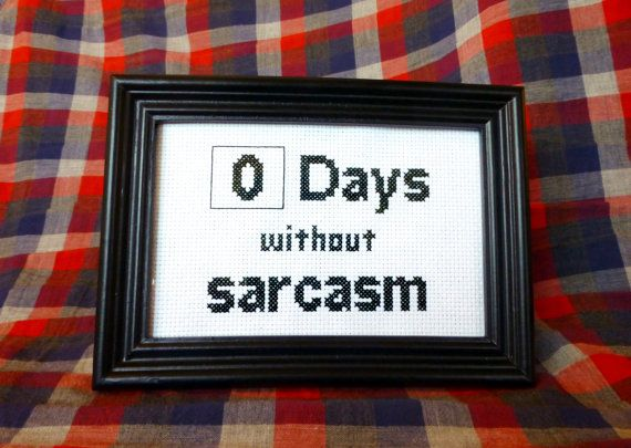I think I need to learn to cross stitch just to make one of these for my husband - I mean for our house.....