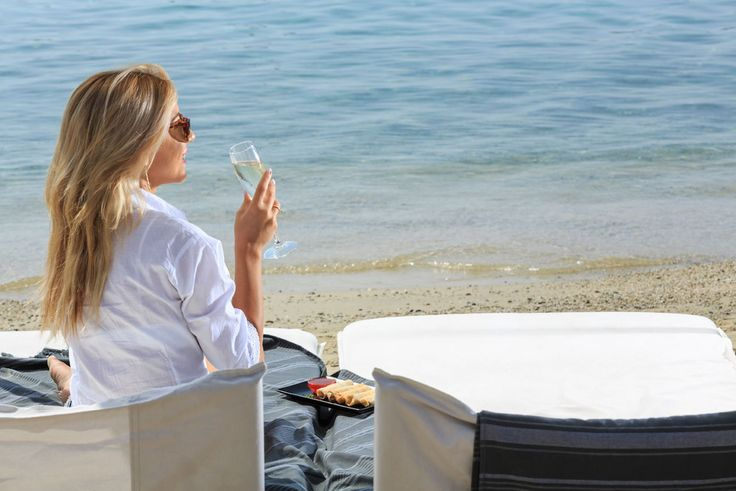 I love having chilled champagne and a light snack on the beach of Ornos, while enjoying the view. This is something that I can only do at Pasaji Mykonos.  #PasajiMykonos #Pasaji #Mykonos #OrnosBeach #Ornos #Summer #GreekSummer #Restaurant #MykonosRestaurant #MykonosBar #MykonosFood #Greece #Cyclades