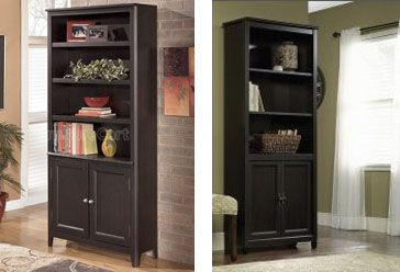 I also found this great bookcase with doors on the bottom over at Furniture Cart for $549.25 with free shipping.  Over at Sears, they have an almost identical match for $165.00
