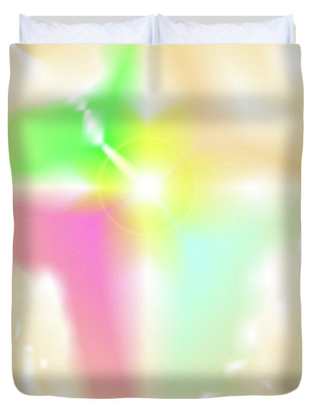 The Digital Abstract Art By Ron Labryzz Duvet Cover featuring the digital art Crux by Ron Labryzz