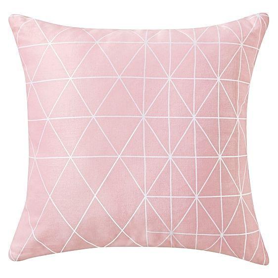 Blue Print Cushion, Light Pink by Rapee