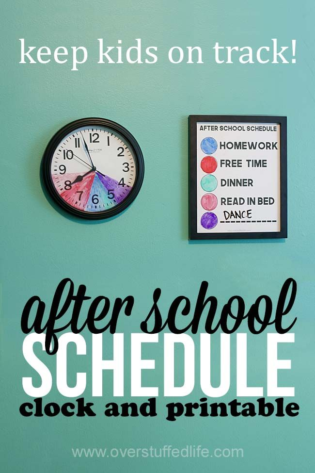 How to make an after school routine clock for kids with variable schedules