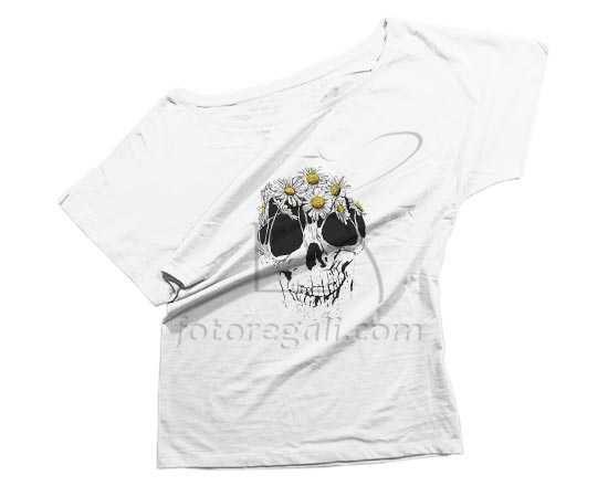 T-shirt donna con grafica con teschio