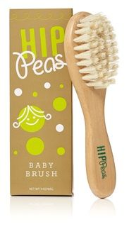Hip_Peas_Wooden_Baby_Brush.  Hip Peas is a fellow eco-friendly baby brand that creates responsibly made baby hair products.