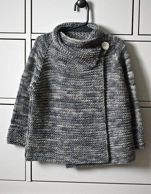 Casaco de tricô cinza