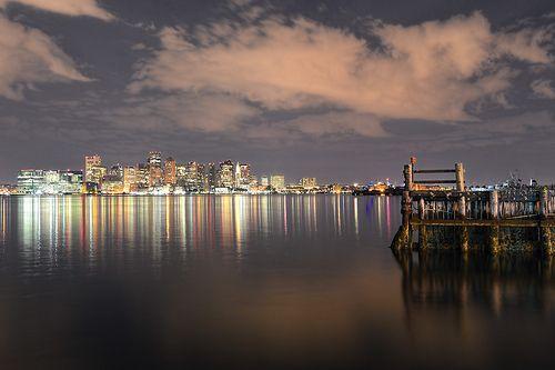 #Boston Harbor at night. #BostonStrong #nightphotography #flickr #photooftheday #picoftheday #potd #Freaktography