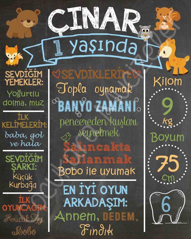Çınar'ın orman hayvanları temalı 1 yaş partisine özel hazırladığımız panomuz.