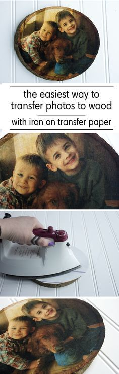 See the easiest and best way to transfer photos on wood in minutes with NuFun Activities Light Fabric Transfer Paper on unfinished wood surfaces!